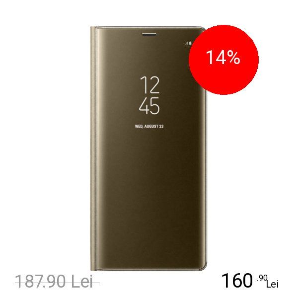 Samsung Husa Agenda Clear View Auriu SAMSUNG Galaxy Note 8