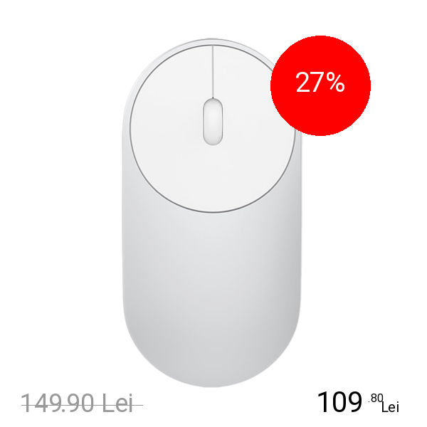 Xiaomi Mouse Wireless Mi Portable Argintiu