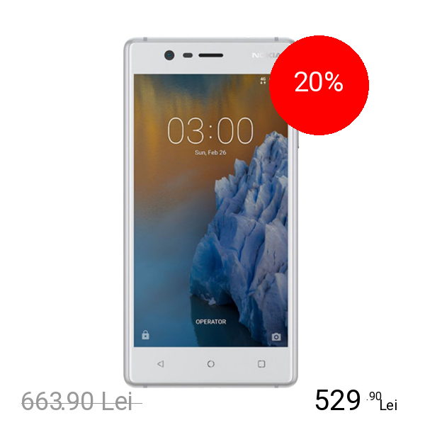 Nokia 3 Dual Sim 16GB Argintiu