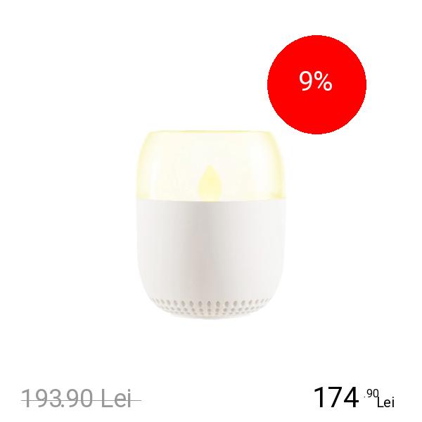 EMOI Lampa Lumanare Cu Difuzor Bluetooth