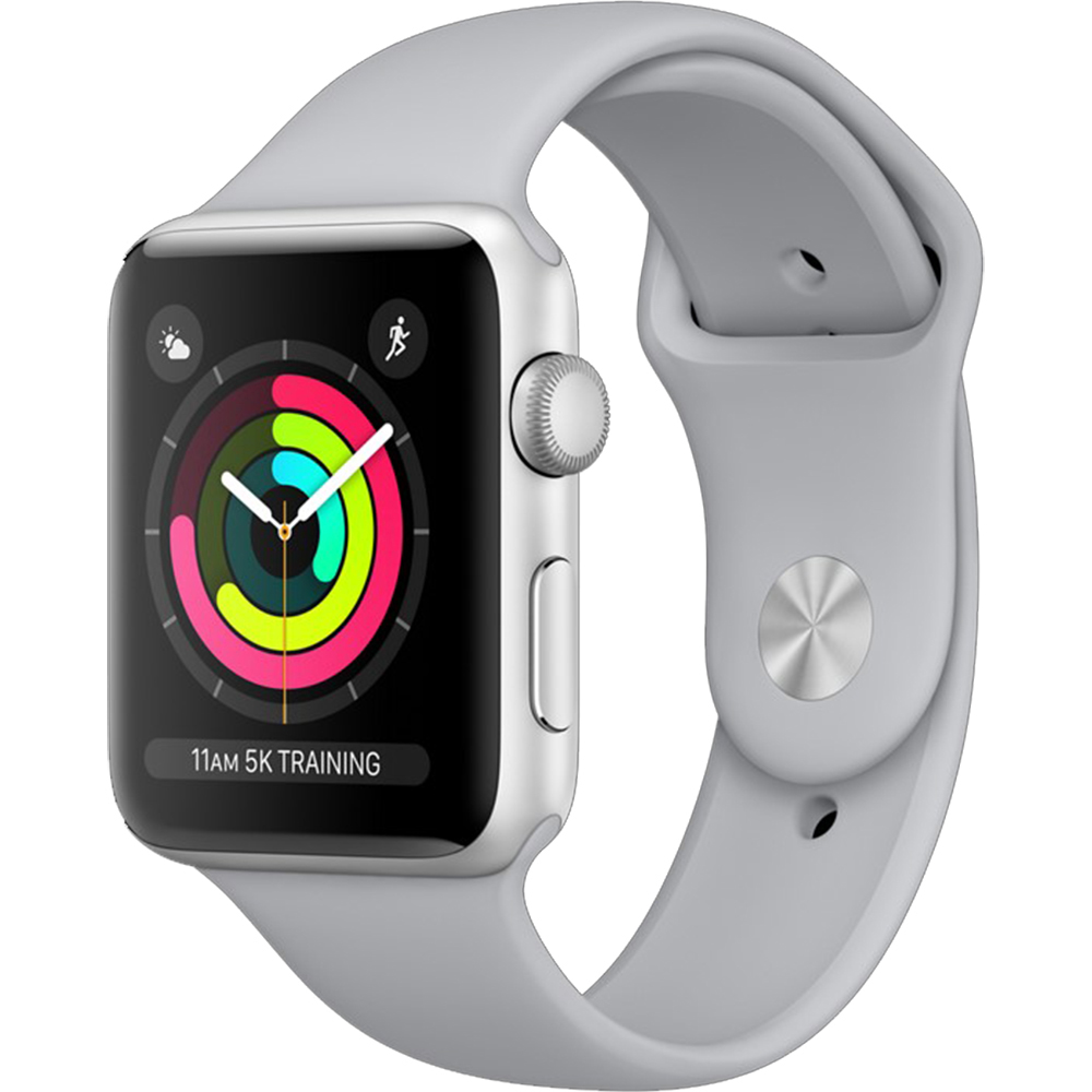 Apple Watch 3 GPS Aluminiu Argintiu 38MM Si Curea Sport Cenusie