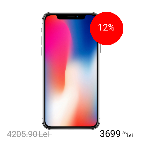 Apple IPhone X 256GB LTE 4G Negru 3GB RAM