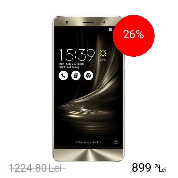 Asus Zenfone 3 Deluxe Dual Sim 64GB LTE 4G Argintiu 4GB RAM