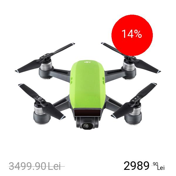 DJI Spark Fly More Combo Drona + Kit Accesorii Verde