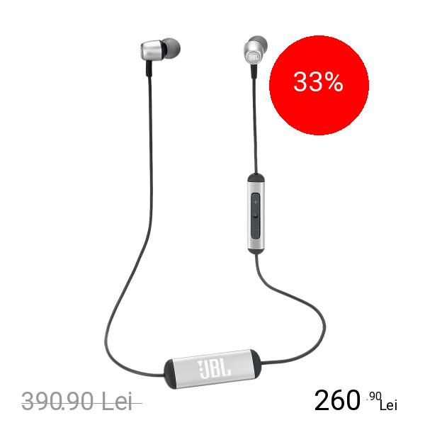 JBL Casti Wireless Duet Mini In Ear Argintiu