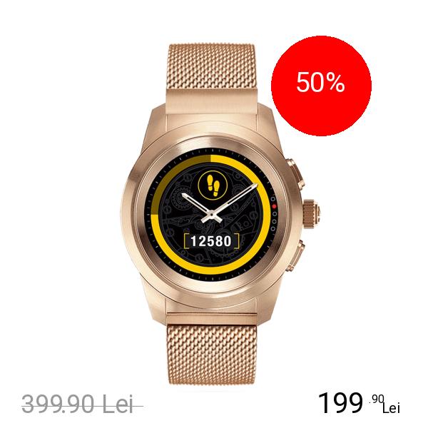 Mykronoz Smartwatch ZeTime Elite Otel Inoxidabil Roz Auriu Milanese