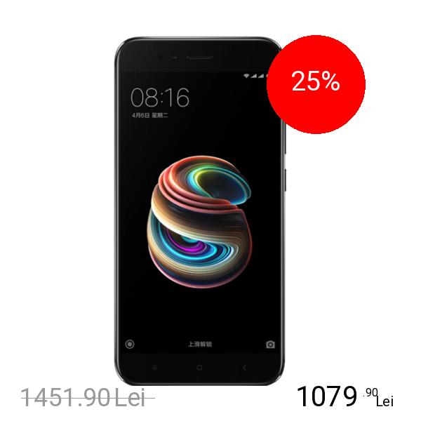Xiaomi Mi 5x Dual Sim 64GB LTE 4G Negru 4GB RAM