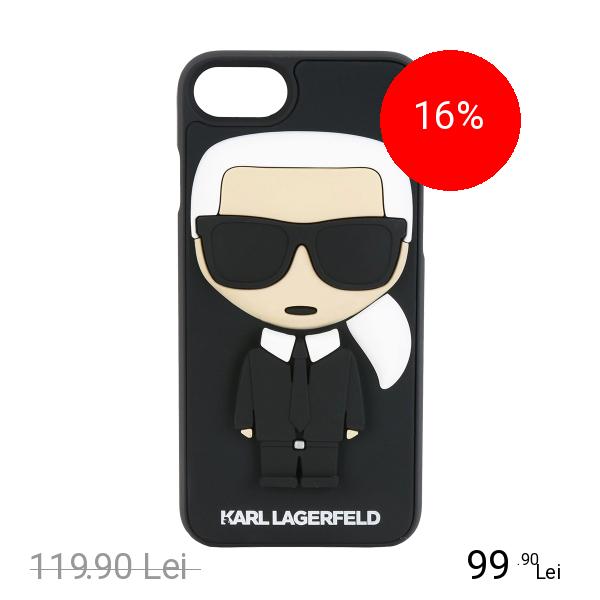 Karl Lagerfeld Husa Capac Spate Karl Negru Apple iPhone 7, iPhone 8