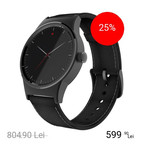TCL Smartwatch Movetime Argintiu Si Curea Piele Negru