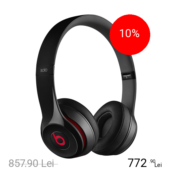 Beats Casti Audio Solo 2 Negru
