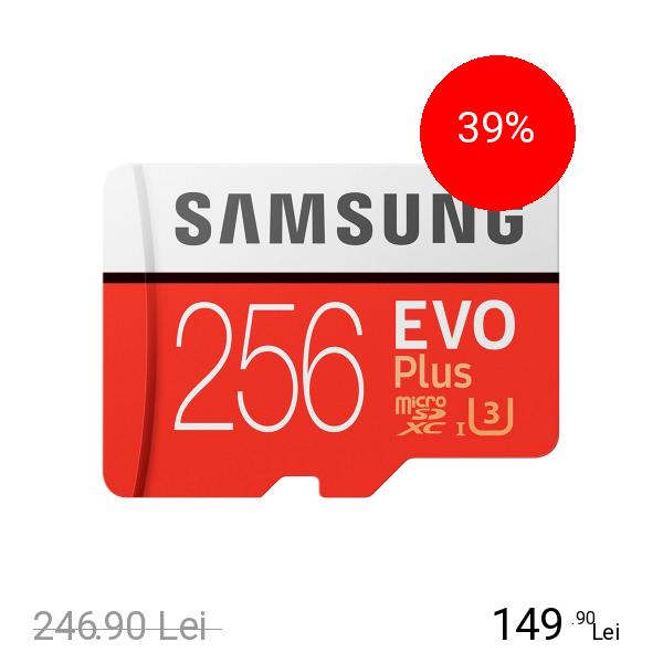 Samsung Card Memorie Micro SDXC Evo Plus 256GB Cu Adaptor SD