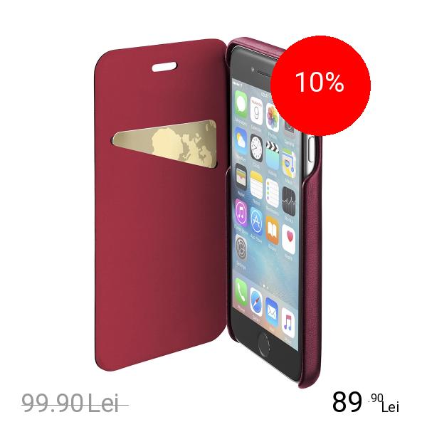 Cellularline Husa Agenda Piele Rosu APPLE iPhone 6, iPhone 6S