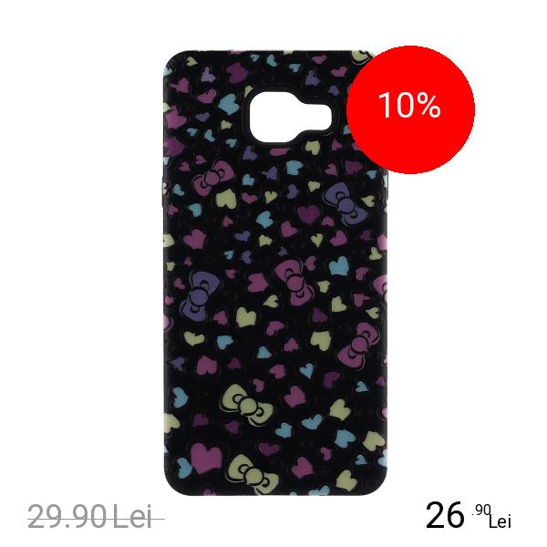 STAR Husa Capac Spate Hearts Negru Samsung Galaxy A5 2016