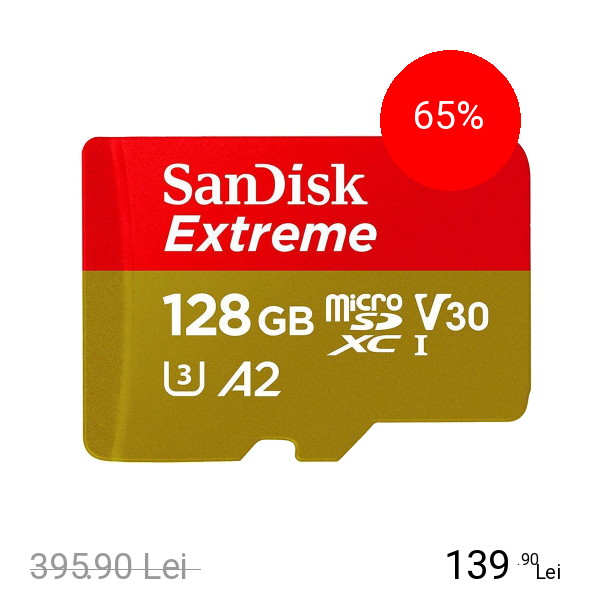 SANDISK Card Memorie MicroSDXC Extreme 128GB + Adaptor
