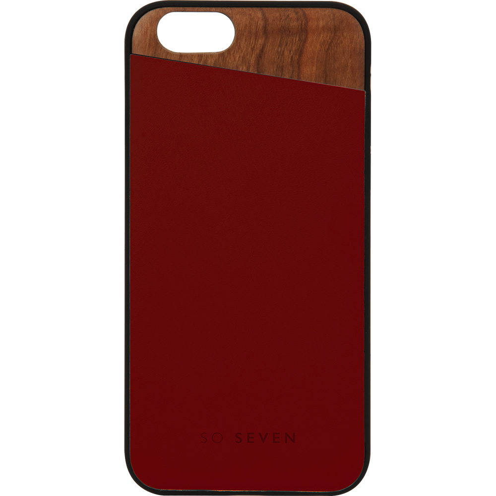 SO SEVEN Husa Capac Spate Dandy Case Wood Burgundy Apple iPhone 7, iPhone 8