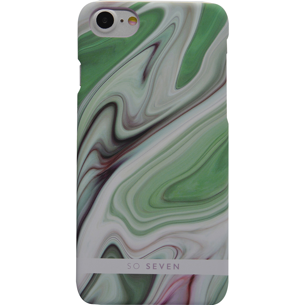 SO SEVEN Husa Capac Spate Fashion Carrare Marble Verde Apple iPhone 7, iPhone 8