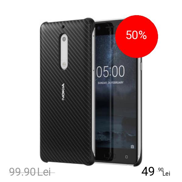 Nokia Husa Capac Spate Carbon Fibre Negru NOKIA 5