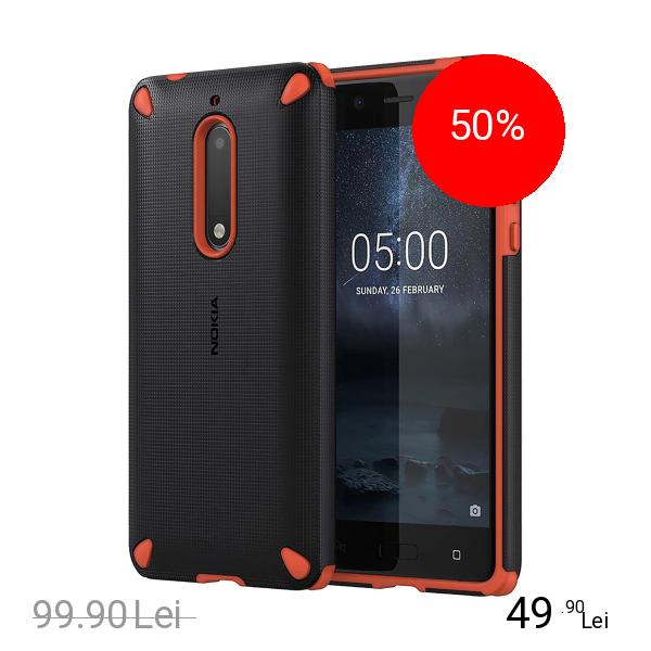 Nokia Husa Capac Spate Rugged Impact Portocaliu NOKIA 5