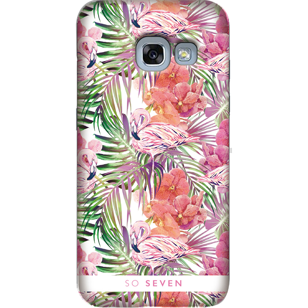 SO SEVEN Husa Capac Spate Fashion Rio Flamingo SAMSUNG Galaxy A3 2017