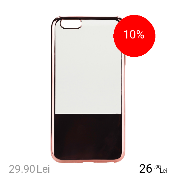 STAR Husa Capac Spate Electroplate Roz APPLE iPhone 6 Plus, iPhone 6s Plus
