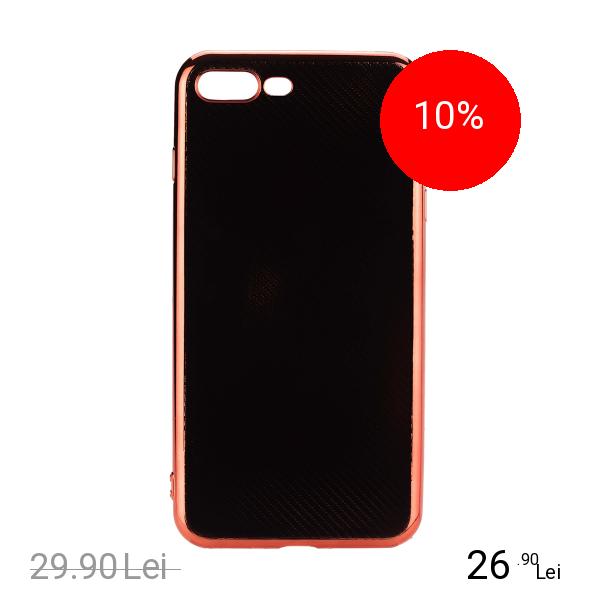 STAR Husa Capac Spate Elegance Carbon Rosu Apple iPhone 7 Plus, iPhone 8 Plus