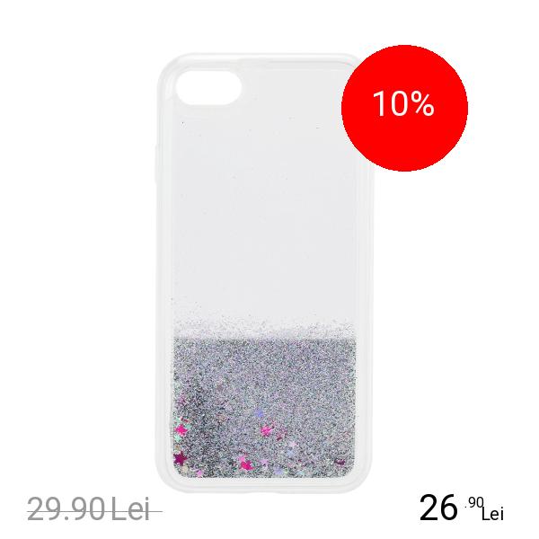 STAR Husa Capac Spate Glitter Argintiu Apple iPhone 7, iPhone 8