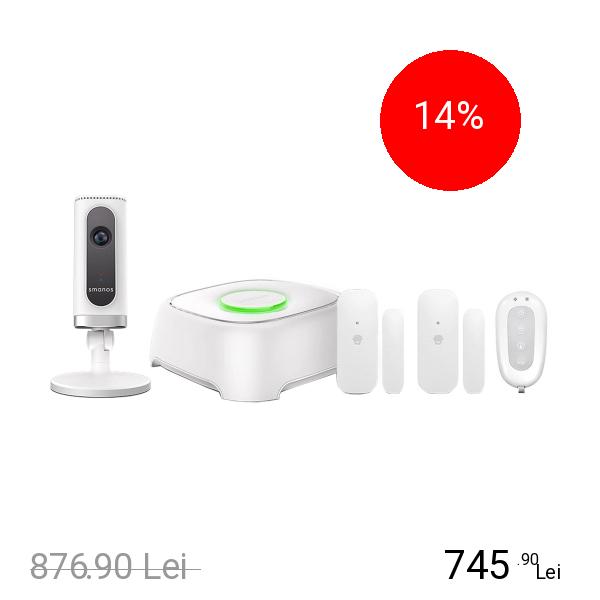 SMANOS Kit Sistem De Alarma + Camera De Supraveghere