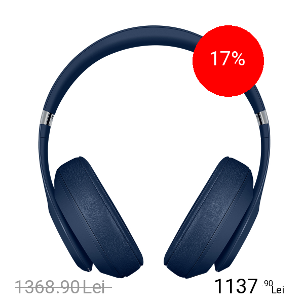 Beats Casti Wireless Studio 3 Albastru
