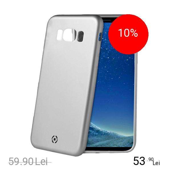 Celly Husa Capac Spate Soft Argintiu SAMSUNG Galaxy S8