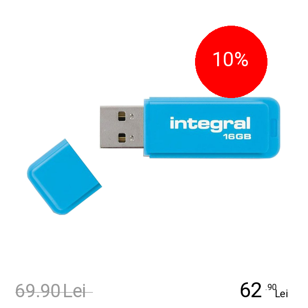 Integral Stick USB 16GB Neon 3.0 Albastru