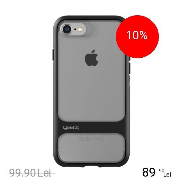 Gear4 Husa Capac Spate Soho Negru Apple iPhone 7, iPhone 8