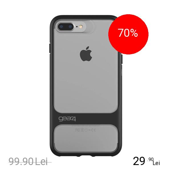 Gear4 Husa Capac Spate Soho Negru Apple iPhone 7 Plus, iPhone 8 Plus