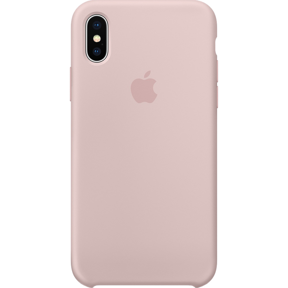 Apple Husa Capac Spate Silicon Roz APPLE iPhone X