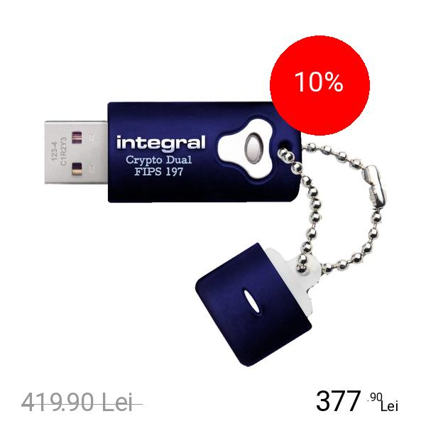 Integral Stick USB Crypto Albastru