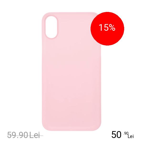 ZMEURINO Husa Capac Spate 0.5 mm Ultra Slim Roz APPLE iPhone X
