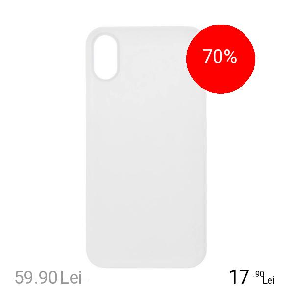 ZMEURINO Husa Capac Spate 0.5 mm Ultra Slim Alb APPLE iPhone X