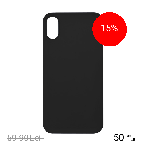 ZMEURINO Husa Capac Spate 0.5 mm Ultra Slim Negru Mat APPLE iPhone X