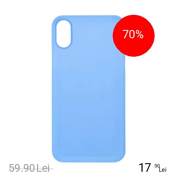 ZMEURINO Husa Capac Spate 0.5 mm Ultra Slim Albastru APPLE iPhone X