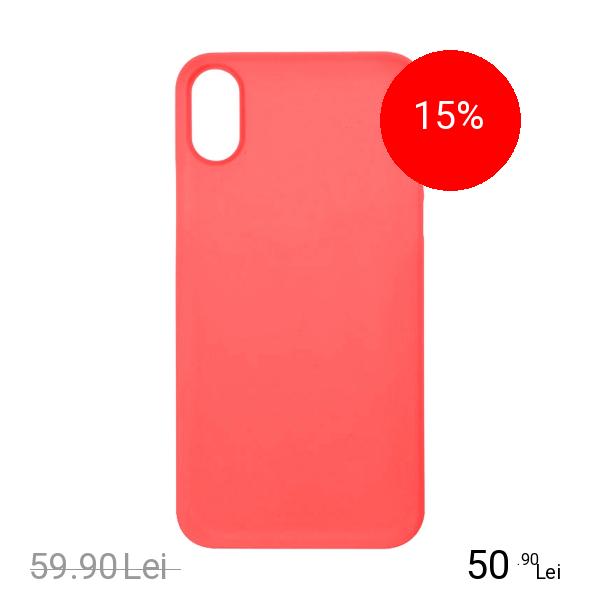 ZMEURINO Husa Capac Spate 0.5 mm Ultra Slim Rosu APPLE iPhone X