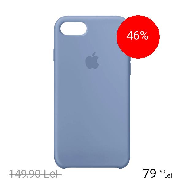 Apple Husa Capac Spate Silicon Azure Albastru Apple iPhone 7, iPhone 8
