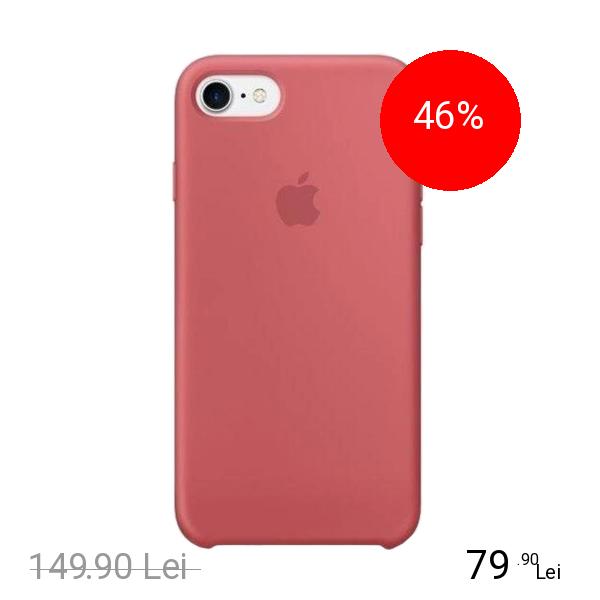 Apple Husa Capac Spate Silicon Camellia Roz Apple iPhone 7, iPhone 8
