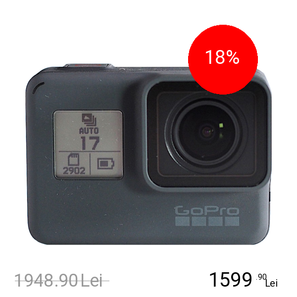 Gopro Camera Sport & Outdoor Hero 6 Negru