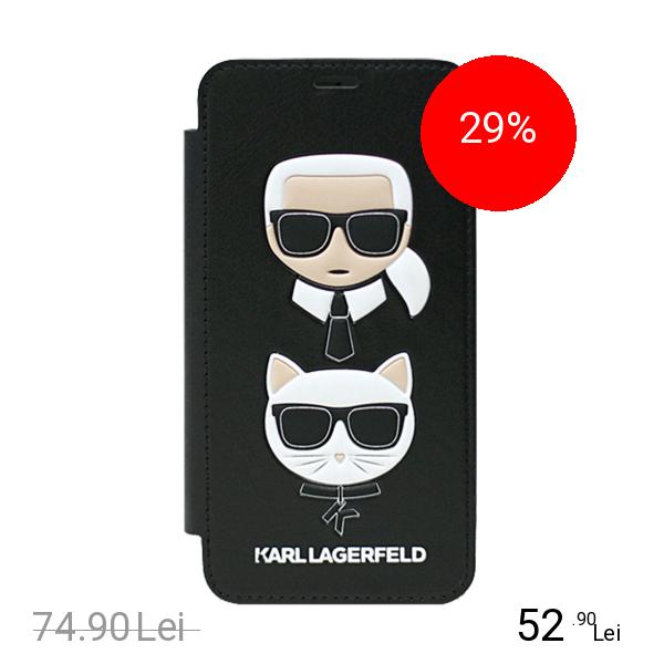 Karl Lagerfeld Husa Agenda Glam Choupette Negru APPLE iPhone X