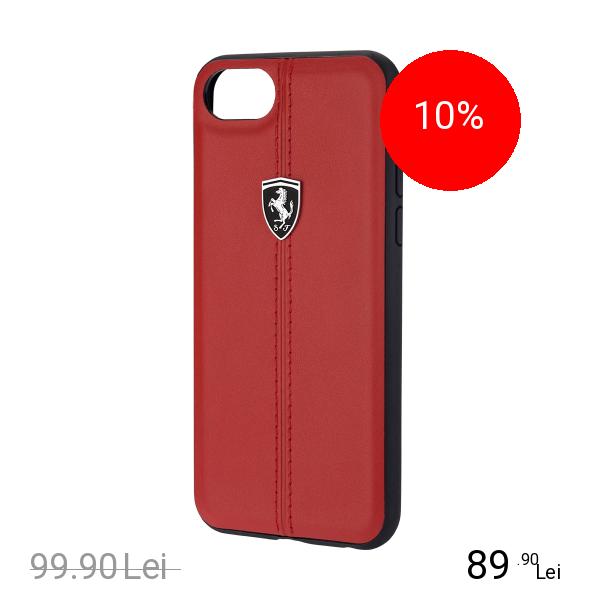 Ferrari Husa Capac Spate Heritage Rosu Apple iPhone 7, iPhone 8
