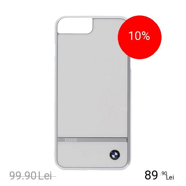 Bmw Husa Capac Spate Aluminium Alb Apple iPhone 7 Plus, iPhone 8 Plus