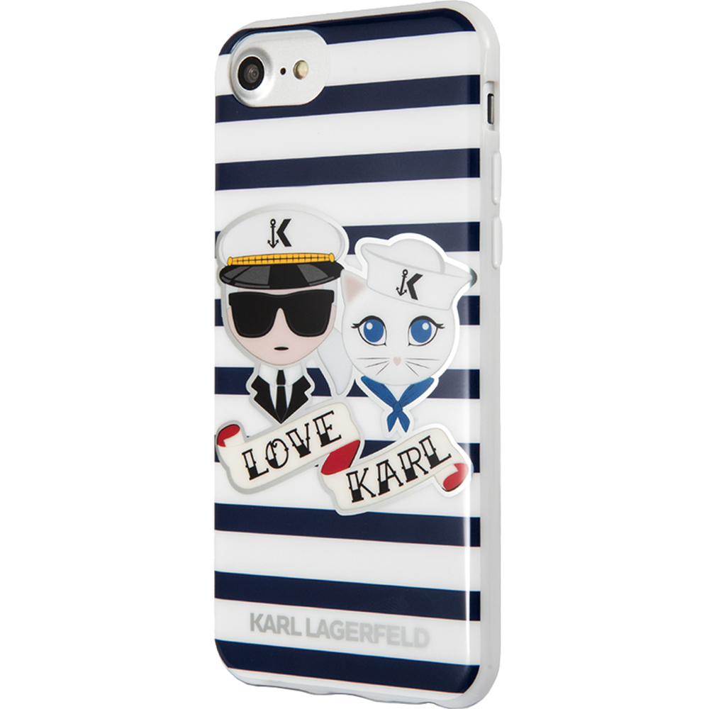 Karl Lagerfeld Husa Capac Spate Sailors Stripes Apple iPhone 7, iPhone 8