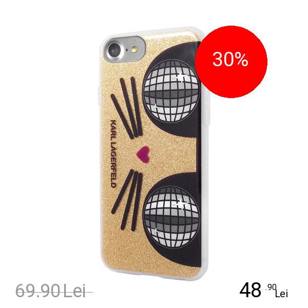 Karl Lagerfeld Husa Capac Spate Kocktail Choupetter Auriu Apple iPhone 7, iPhone 8