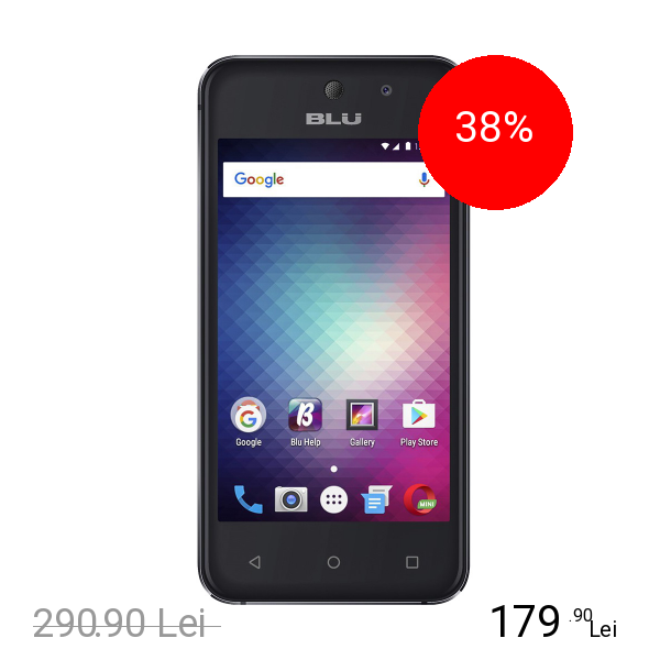 BLU Vivo 5 Mini Dual Sim 8GB Negru