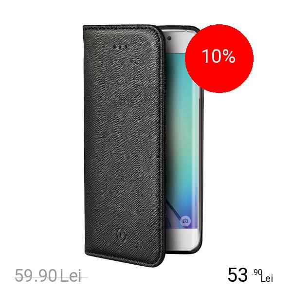 Celly Husa Agenda Negru SAMSUNG Galaxy S6 Edge