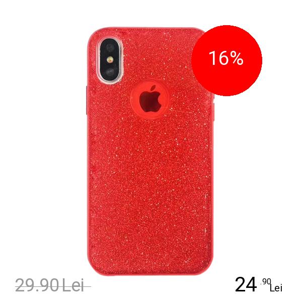 STAR Husa Capac Spate Shine Rosu APPLE iPhone X